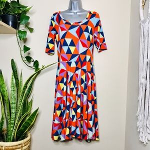 LuLaroe Nicole Patterned Dress print geometric